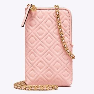 NWT TORY BURCH Fleming LambskinLeather Phone Xbody